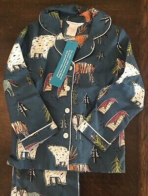 The Company Store Kids Flannel Pajamas Two-Piece Wildlife Boys Girls
