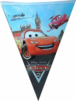 CARS LIGHTNING MCQUEEN BANNER BUNTING GARLANDS BIRTHDAY PARTY SUPPLIES DECOR - Lightning Mcqueen Birthday Decorations