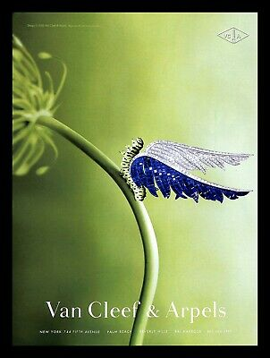 2000 Van Cleef & Arpels Jewelry Vintage PRINT AD Caterpillar Insect Wings Nature