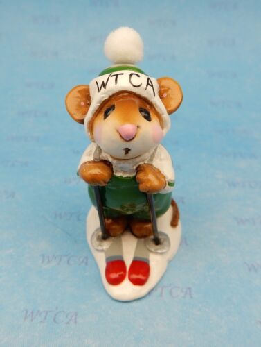 Wee Forest Folk SKIER MOUSE, MS-9 Mouse Expo 1996 WTCA Store Special