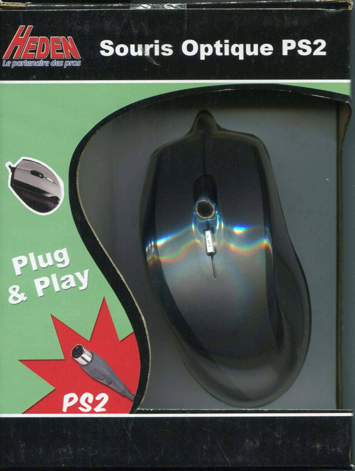 Souris filaire optique ps2 ps/2 heden ordinateur pc optical mouse