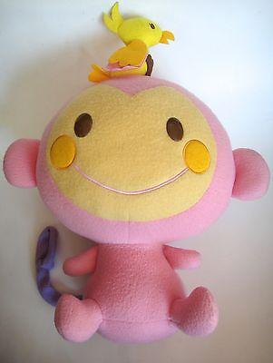 2005 Sanrio Chi Chai Monchan Plush Pink Monkey Stuffed Animal - Hello Kitty