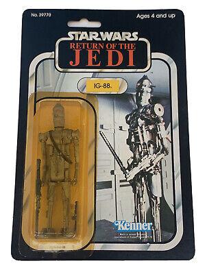 vintage Star Wars ROTJ IG-88 77 Back C9.5Y Moc Case Fresh Beautiful