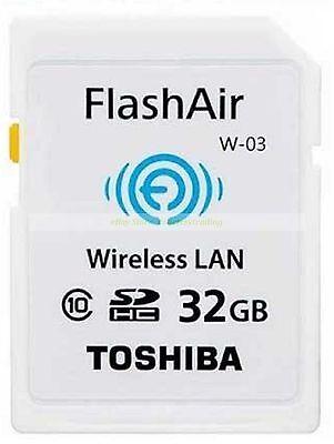 Toshiba SDHC 32GB 32G FlashAir Wi Fi C10 Wireless Flash Memory Card New ct U