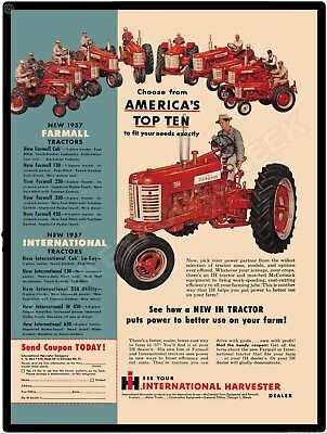 """1957 FARMALL TRACTOR 9"""" x 12"""" Sign for sale  Leipsic"""