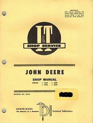 John Deere 3010 3020 4010 4020 5010 5020 Tractors It Shop Manual Jd-29