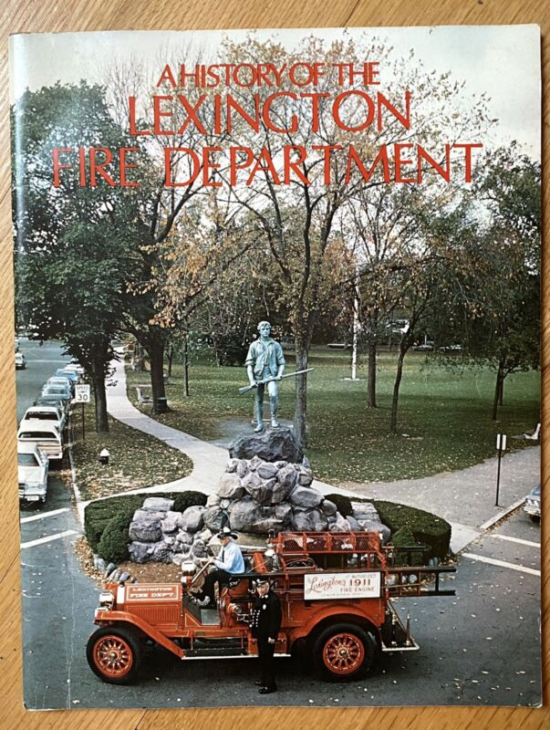 1977 A History of the Lexington Massachusetts Fire Department by L.Sasher