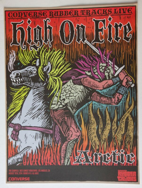 HIGH ON FIRE Los Angeles 2014 CONCERT POSTER 18x24 Sleep Matt Pike