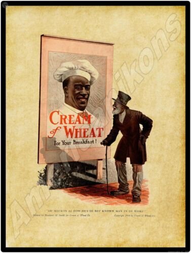 1914 Cream of Wheat NEW Metal Sign: Black Americana - Best Known Man in World