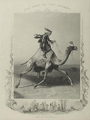 Die Wüstenpost. A. H. Payne, um 1840