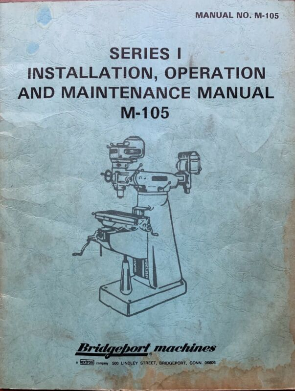 Bridgeport Operators Manual  J Head