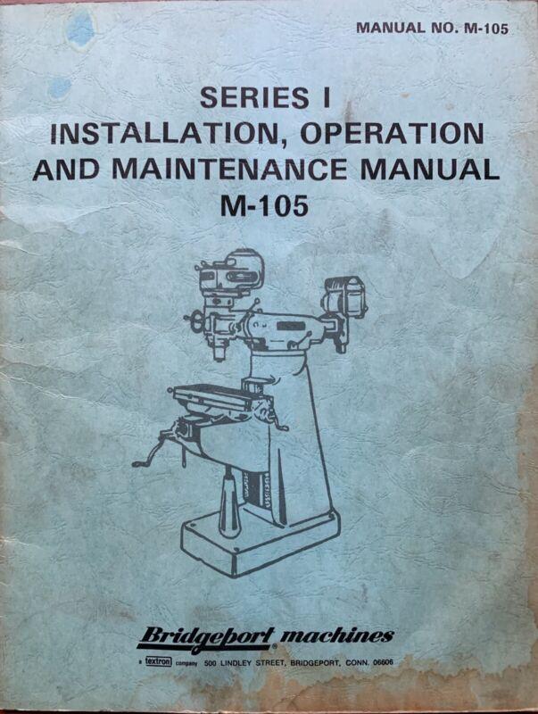 Bridgeport Operators Manual  J Head