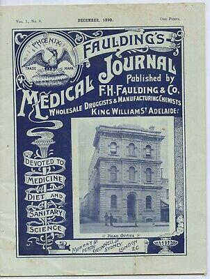 1899 FAULDING'S 24 PAGE MEDICAL JOURNAL WHOLESALE DRUGGISTS CHEMISTS S.A. L414