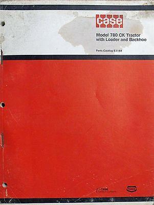 Original Case Parts Catalog No. E1164 Model 780 Ck Tractor With Loader Backhoe
