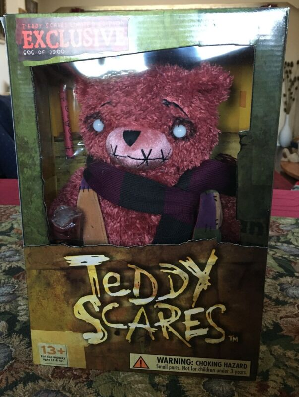 """TEDDY SCARES EDWIN MOROSE 12"""" PLUSH BEAR LIMITED COLL. EDITION #605 of 2900 NEW"""