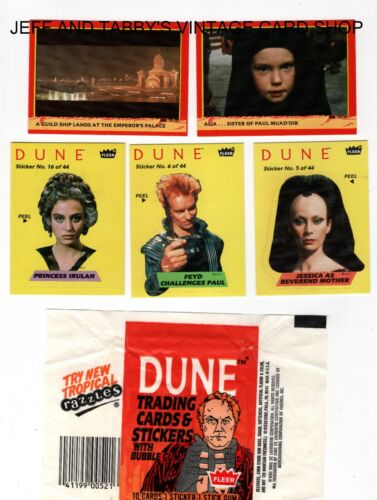 1984 FLEER DUNE Cards, Stickers, and Wrappers you pick from scans