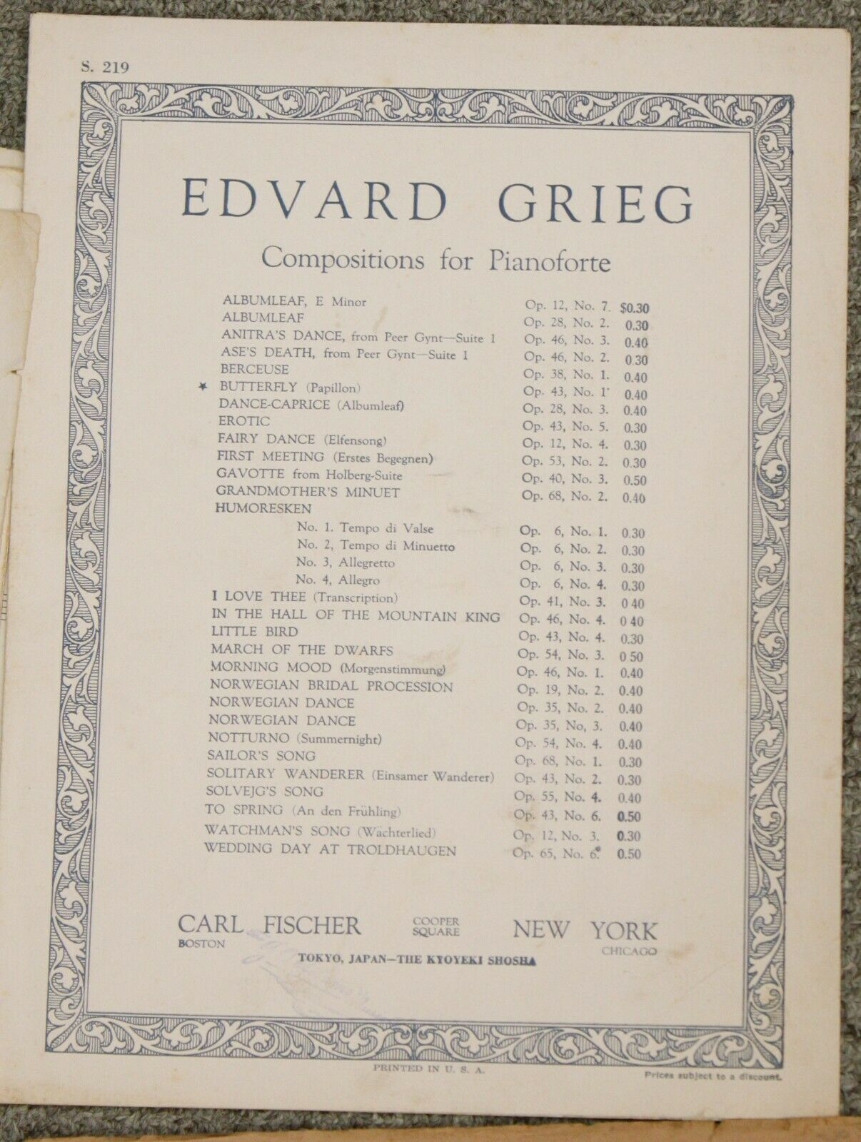 Narcissus Edvard Grieg Danse Macabre Francis Dorel Piano Sheet Music Mixed Lot - $14.95