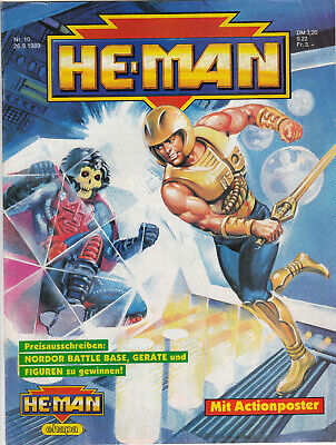 HE-MAN Masters of the Universe | 1989 Nr. 10 | Ehapa GbÜ | Z 1- m. Poster, gebraucht gebraucht kaufen  Langelsheim