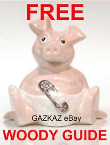 WOODY - Sunshine Ceramics NatWest Pig WOODY- BABY Pig - FREE GUIDE - YES FREE !!