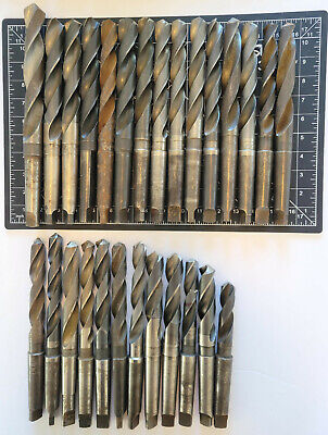 Lot Of 27 Morse Taper Mt3 Drill Bits Mostly High Speed Steel And Made In Usa