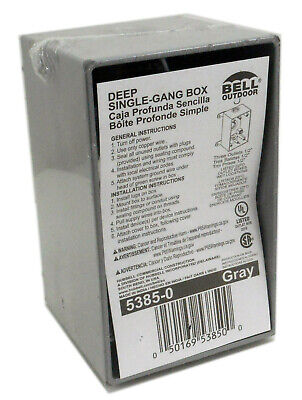 Bell 5385-0 Single-gang Outdoor Weatherproof Deep Aluminium Box Three 12 Inlet