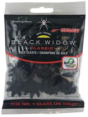 Softspikes BLACK WIDOW Fast Twist 3.0/Tour Lock Golf Cleats Spikes - pack of - Black Widow Fast Twist