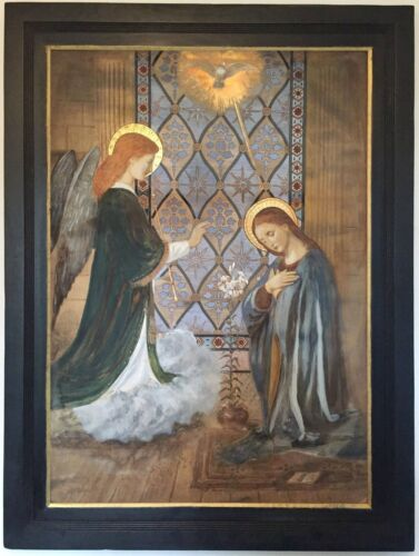 The Annunciation Antique 19th Century European Painting