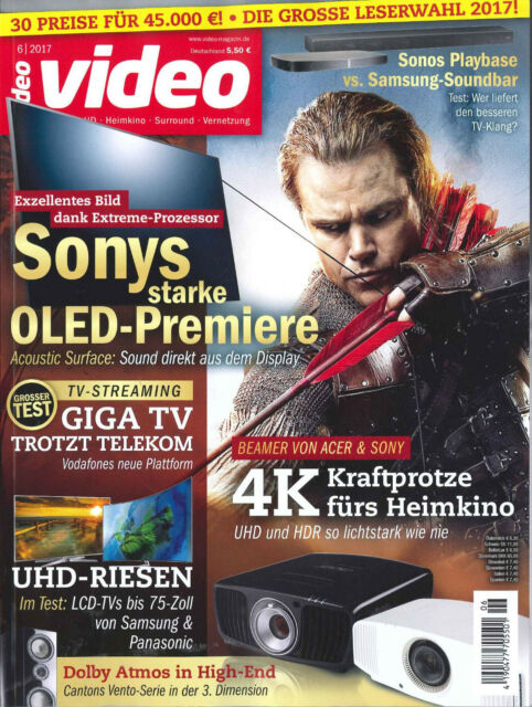 video Magazin, Heft Juni 6/2017: 4K-Beamer  +++ wie neu +++