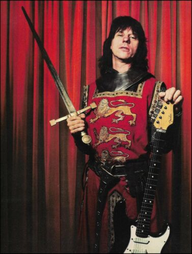 Sir Knight Sword Jeff Beck Black Fender Stratocaster guitar 8 x 11 pin-up photo