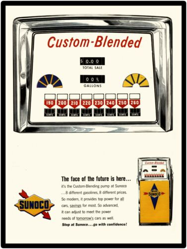 1963 Sunoco Gasoline New Metal Sign: Custom Blended Pump Pic  -  Free Shipping