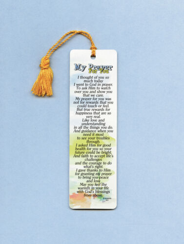 """My Prayer For You"" Poem on a Tasseled Bookmark (goldenrod tassel) Sku# 501"