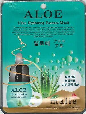 Malie Ultra Hydrating Essence Mask Sheet Pack Korean Skin Cosmetics Aloe 1 pcs