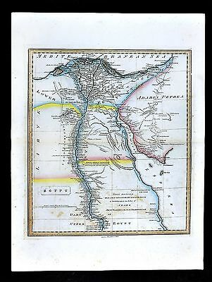1839 Allan Bell Map - Egypt - Cairo Great Pyramids Alexandria Benni Wassel Nile