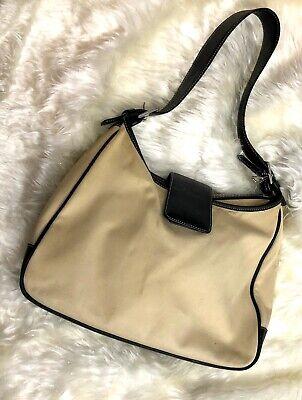 Authentic Coach Handbag Purse Beige Shoulder Bag