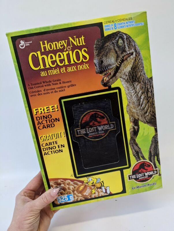 Vintage 1997 JURASSIC PARK The Lost World 3D Dinosaur CANADA Cherrios Cereal Box