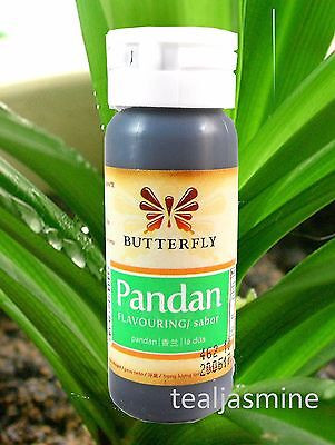 Pandan Paste Concentrated, Pandanus Extract, Screwpine 1 oz. Butterfly Koepoe