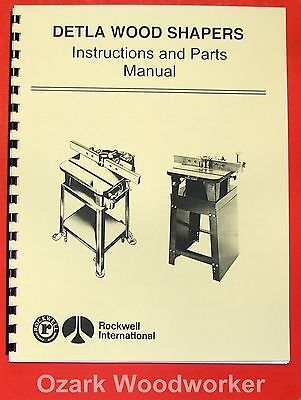 Rockwell Delta Wood Shaper Operating Parts Manual 0611