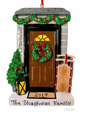 PERSONALIZED CHRISTMAS TREE ORNAMENT 2019 Family New House, Home, 1st Apt. Door 1st Christmas Personalized Ornament