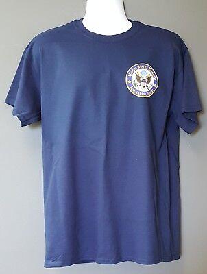 State Dept United States Embassy Jerusalem Israel Morale Navy Short Slv T Shirt