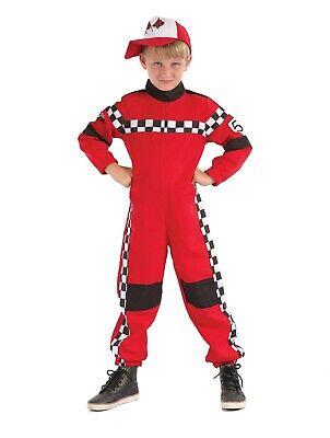 Kinder Jungen Rot Racer Speed Rennfahrer Verkleidung Kostümparty Formel 1 - Speed Racer Kostüm Kinder