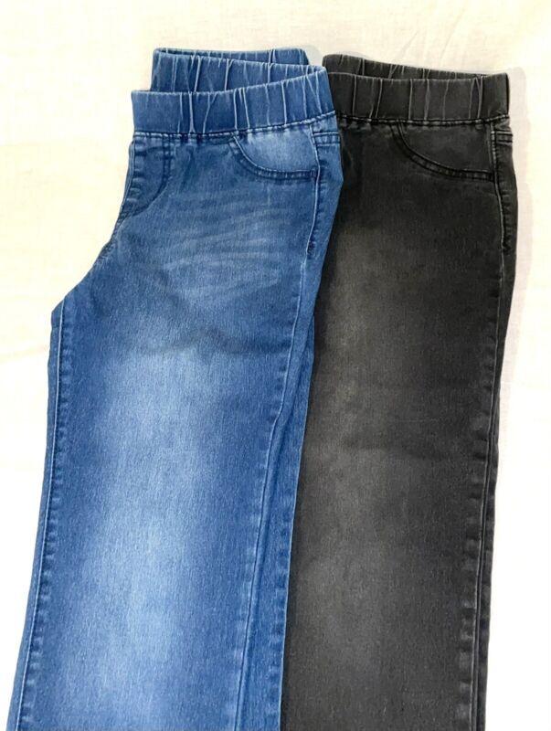 Lot 2 Cat & Jack Girls Size 16 Jeggings Jeans Pants Denim Leggings Blue Black