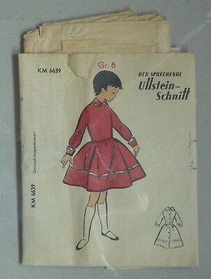 60er Jahre Der sprechende Ullstein-Schnitt KM 6639 Kinderkleid Mädchengröße 6 (Kinder Der 60er Jahre Kleider)