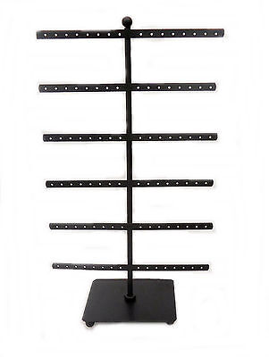 Black Metal Earring Tree Holder Display Organizer - 15 Tall -holds 48 Pairs