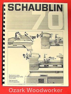 Schaublin No. 70 Series Precision Metal Lathe Catalog Manual 0646