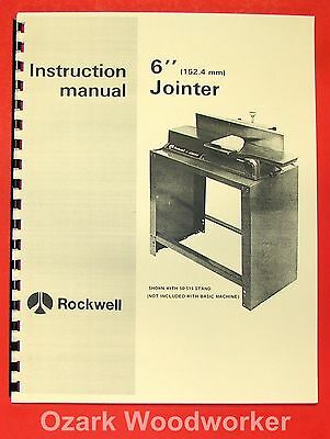 Rockwelldelta 6 Jointer 37-600 Operator Parts Manual 0629