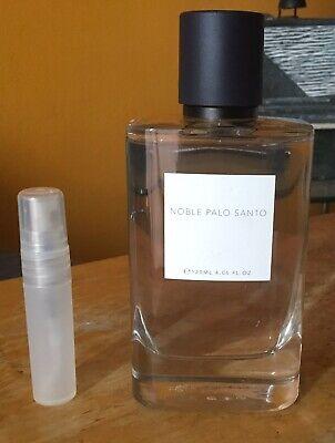Zara Noble Palo Santo 5 ml atomizer SEE FULL DESCRIPTION