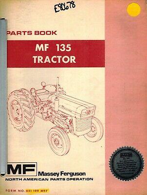 Massey Ferguson Mf 135 Tractor Parts Manual Mf 651 1991 M97