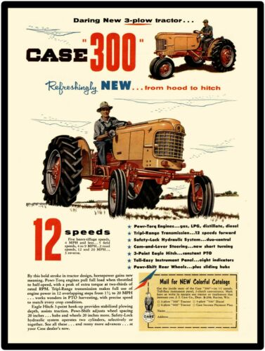 Case Farm Machinery New Metal Sign: Case 300 Tractor Featured