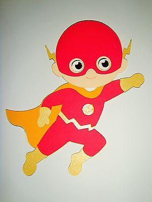 Super Hero Flash Paper Doll Paper Die Cut Scrapbook Embellishment (Superhero Scrapbook Paper)