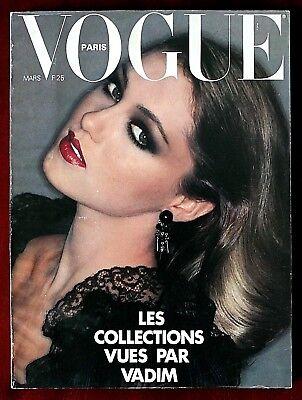 Vogue Paris Magazine ~ #574 March 1977 ~ Helmut Newton David Bailey Bourdin